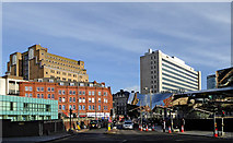 SP0686 : Navigation Street in Birmingham by Roger  Kidd
