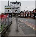 SJ3350 : Regent Street directions sign, Wrexham by Jaggery