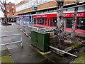 SJ3350 : Telecoms cabinet, Regent Street, Wrexham by Jaggery