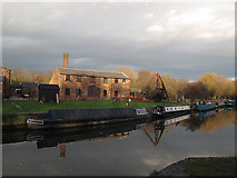 SE3231 : Thwaite Mills from across the canal by Stephen Craven
