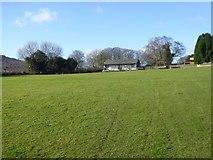 SX7481 : Cricket pitch and pavilion, Manaton by David Smith