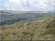 SX7282 : Valley west of Easdon Tor by David Smith