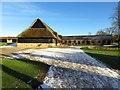 SU1070 : Thatched barn at Avebury by Steve Daniels