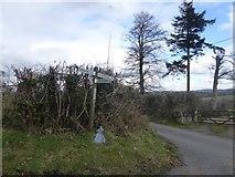 SX7383 : Signpost at Yarde Cross by David Smith