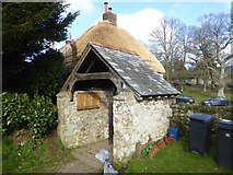SX7383 : The lych gate of St John the Baptist church, North Bovey by David Smith