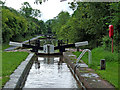 SO8556 : Gregory's Mill Locks in Worcester by Roger  Kidd