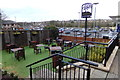 TM0558 : Beer Garden of The Willow Tree Public House by Adrian Cable