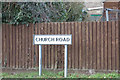 TM0659 : Church Road sign by Adrian Cable