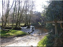 SX7483 : Ford and stepping stones across River Bovey by David Smith