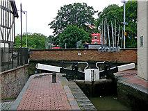 SO8554 : Sidbury Lock and Bridge in Worcester by Roger  Kidd