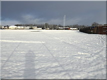 H4572 : Snow, Campsie Playing Fields, Omagh by Kenneth  Allen