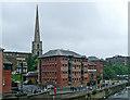 SO8454 : Former riverside warehouses in Worcester by Roger  Kidd
