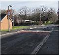 SJ3061 : Warning sign - School/Ysgol, Abbotts Lane, Penyffordd, Flintshire by Jaggery