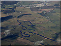 NS9642 : The Carstairs meanders from the air by Thomas Nugent
