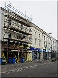 SS9079 : Zia Nina under scaffolding in Bridgend town centre by Jaggery