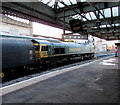 SJ4912 : Freightliner diesel locomotive 66544 in Shrewsbury station by Jaggery