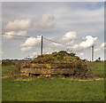 ST7569 : WWII Somerset: a walk around the airfield of RAF Charmy Down - pillbox #6  (22) by Mike Searle