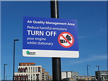 "TQ2081 : Road sign ""Turn off your engine whilst stationary"" by David Hawgood"