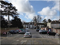 TQ2160 : St Martin of Tours Epsom: car park by Basher Eyre