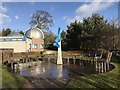 SJ8245 : Viewing area outside Keele Observatory by Jonathan Hutchins
