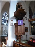TQ2160 : St Martin of Tours Epsom: pulpit by Basher Eyre