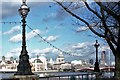 TQ3180 : South Bank Lampposts London by norman griffin