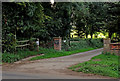 SO8481 : Driveway and bridleway near Caunsall in Worcestershire by Roger  Kidd