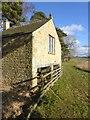 NY9776 : Old boathouse on Hallington Reservoir East by Oliver Dixon