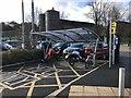 SJ8145 : Motorcycle shelter at Keele University by Jonathan Hutchins