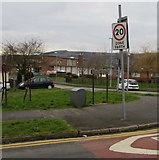 ST3091 : Royal Mail drop box, Edison Ridge, Malpas, Newport by Jaggery