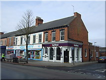 TA0827 : Bank and shops on Hessle Road, Hull by JThomas