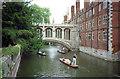 TL4458 : St John's College Bridge of Sighs, Cambridge by Jeff Buck