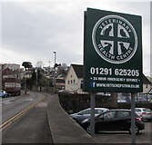 ST5393 : Veterinary Health Centre name sign, Chepstow by Jaggery