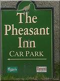 SD3876 : Sign for the Pheasant Inn, Allithwaite by Karl and Ali