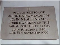 TQ2160 : St Martin of Tours Epsom: memorial (17) by Basher Eyre