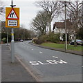 SP1199 : Warning sign - Elderly people, Lichfield Road, Sutton Coldfield by Jaggery