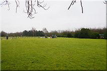 TA0231 : Open grass at Haltemprice Crematorium by Bill Boaden