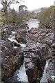 NM9671 : Rock step, Cona Glen by Richard Webb