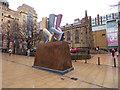 SE2933 : Legs Walking, City Square, Leeds by Stephen Craven