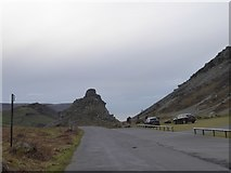 SS7049 : Car park and rock formations, Valley of the Rocks by David Smith