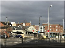 SJ8545 : Stubbs Street and the bus station by Jonathan Hutchins