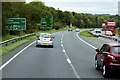 SH9975 : North Wales Expressway near Kinmel Park (Bodelwyddan) Services by David Dixon