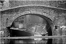 SP0686 : Narrow Boat Tay at Gas Street Basin (1969) by Martin Tester