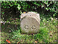NY4157 : City boundary stone, Whiteclosegate (close look) by Rose and Trev Clough
