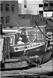 SP0686 : Boatman waiting for traffic - Gas Street Basin (1969) by Martin Tester
