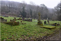 SK2375 : Cemetery at Stoney Middleton by steven ruffles