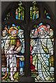 SK8907 : Window s.VIII, St Andrew's church, Hambleton by Julian P Guffogg