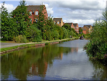 SO8277 : Canalside apartments north of Kidderminster, Worcestershire by Roger  Kidd