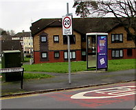 ST3091 : Whittle Drive telecoms cabinet and phonebox, Malpas, Newport by Jaggery