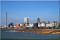 TQ3103 : Brighton seafront from the Palace Pier by Mike Pennington
